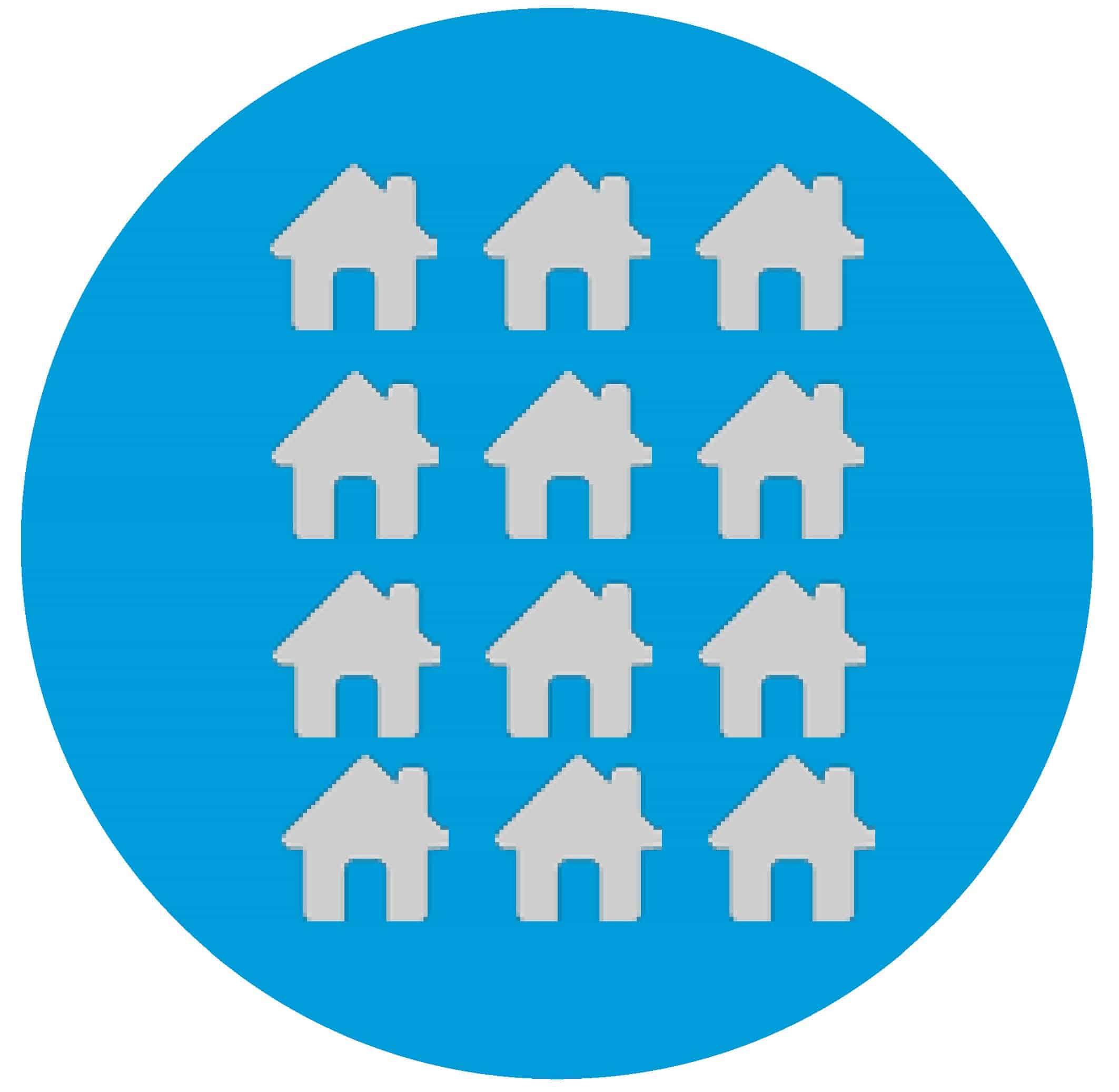 Houses representing new addresses