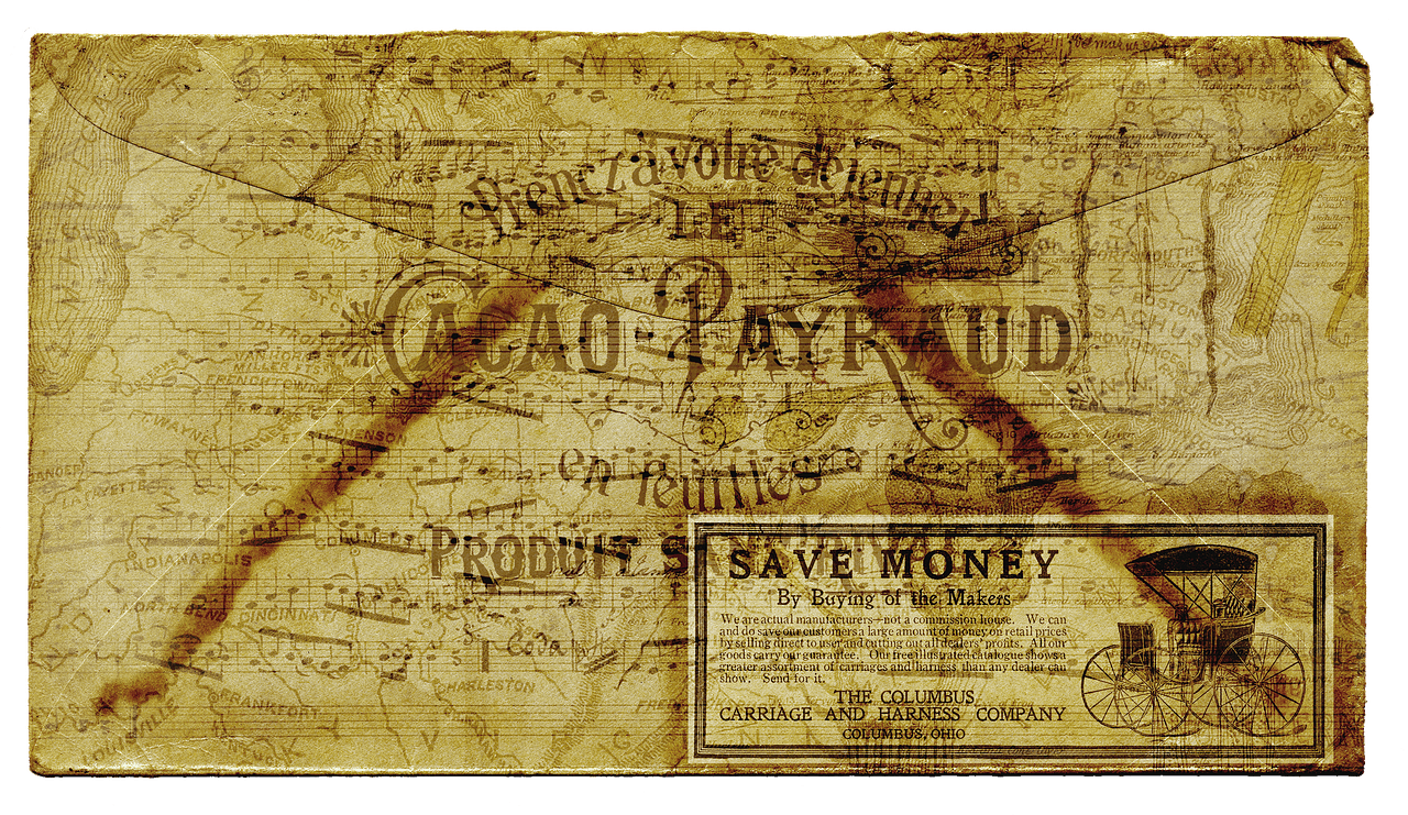 An image of a historical direct mail letter.